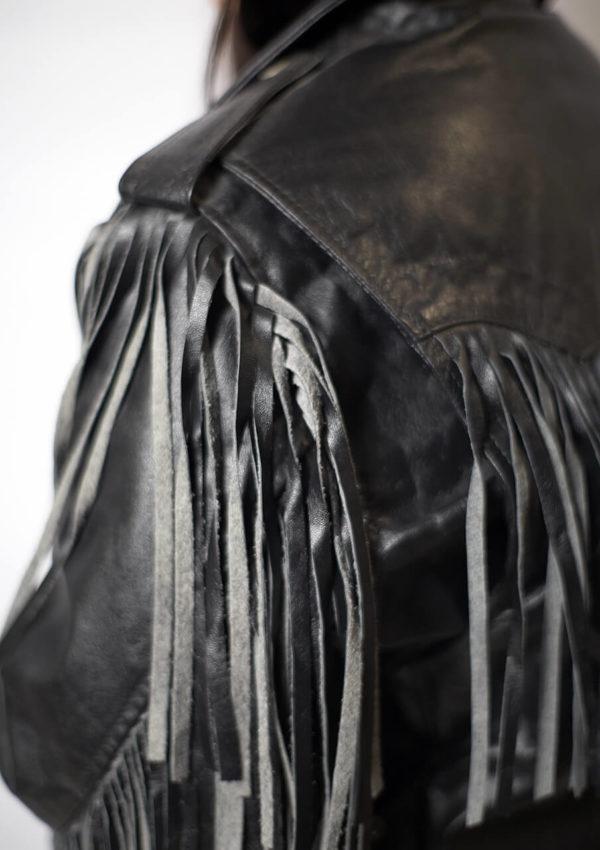 кожаная куртка косуха с бахромой Alberto.ru