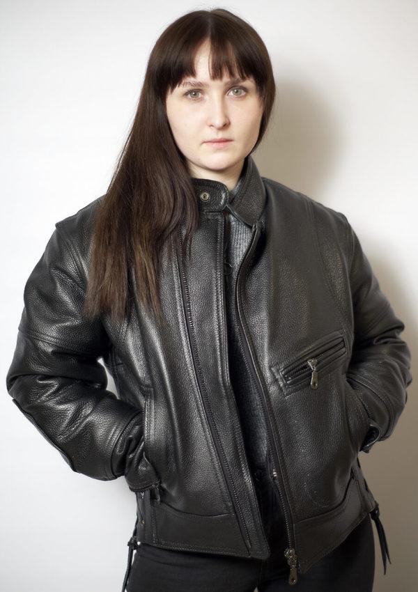 женская мотокуртка из толстой кожи Alberto.ru